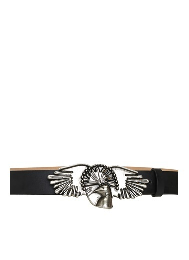 Divarese 5024202 Sinek Kapan Kuşu Tokalı Kadın Kemer Siyah